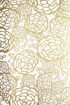 Petal Pusher Wallpaper #AnthroFave #GoldDecor