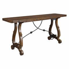 $944.99 Hammary Siena Rectangular Flip-Top Console table