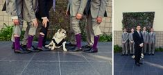 Love the Purple Socks!!! So making the Grooms men do this! :)