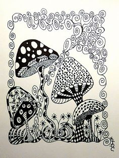 zentangle flowers - Google Search
