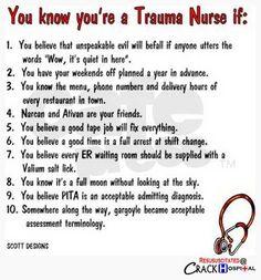 Shout out to our Trauma Nurses! #TraumaNurses #Nurses #Humor #LOL