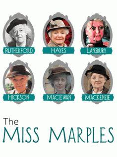 The various Miss Marples.