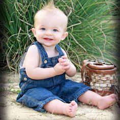 9 month toddler boy pose