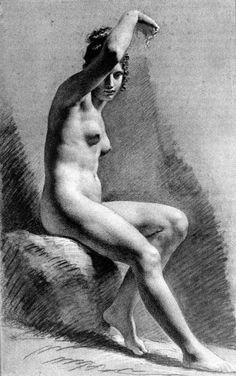 Female Nude Raising her Arm - Pierre-Paul Prud'hon