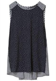 spots + stripes chiffon vest