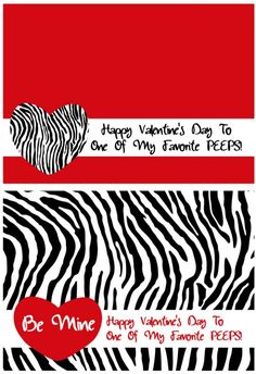 More Free Valentine's Day Treat Bag Topper Printables