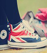 British flag (Union Jack) converse!