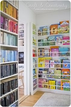 A very cool home library - display books just like a public library!