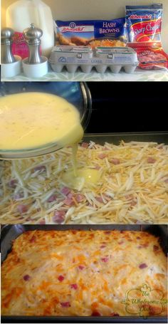 Hashbrown breakfast casserole. Drooling agh