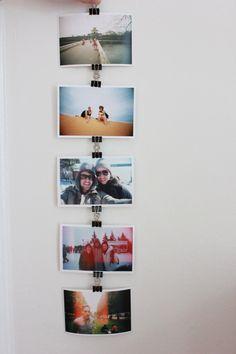 binder clip photo chain.