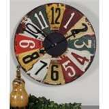 Clock made from old license plates -- love everything about this!