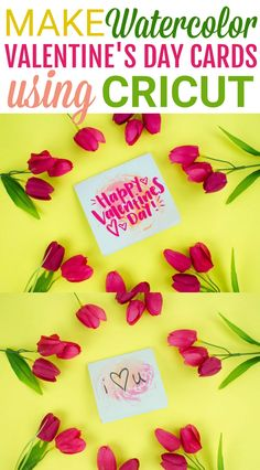 How would you like to make tons of custom easy watercolor cards in no time with your Cricut? #You don't have to be a master artist to make these Easy DIY Cricut Valentine's Day Cards. Just a few supplies, some creativity, and you'll be in business! #valentines #valentinesday #valentinesdaycrafts #valentinesdayprojects #valentinesdaygiftideas #valentinesdaygifts #valentinesdaydiy #diyvalentinesday #diyvalentinescrafts