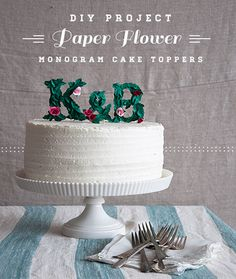 DIY Cake Toppers; super easy, and could be made for birthdays, weddings, or other events.
