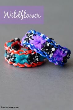 How to Make the Rainbow Loom Wildflower Bracelet #rainbowloom