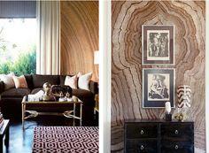 Agate walls living rooms, agat wall, design detail, agates, hous, design blogs, live room, decor idea, accent walls