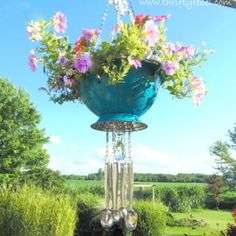 created from an old colander