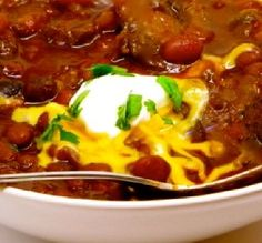 "Ole! Chili Con Carne: ""A savory chili con carne that can be made in lickety-split time or slow-simmered.  —The Spice Guru"