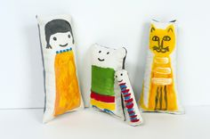 Made by Joel Painted Fabric Dolls
