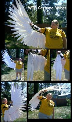cosplay, craft, tutorials, halloween costumes, costum wing, angels, birds, engineering, black