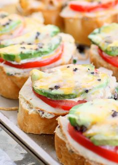 South of the Border Sandwiches - great for a crowd with turkey, tomato, avocado, olives, and cheese. {The Girl Who Ate Everything}
