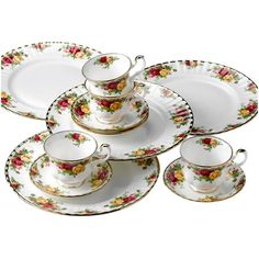{12 Piece Old Country Roses Dinnerware Set} Royal Albert - my mom has this set :)