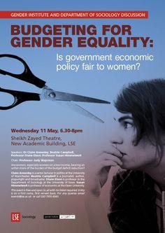 econom polici, event poster, gender equal, sociolog public, govern econom, public event, lse sociolog