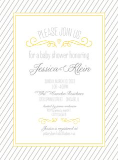 Bebe shower invite