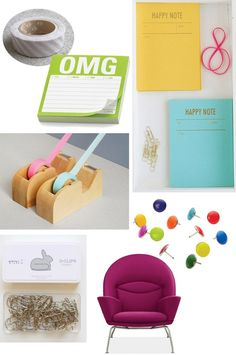 I love these fun office supplies!