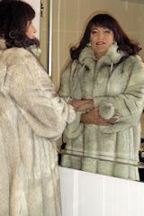 Transvestites love fur, blue fox fur