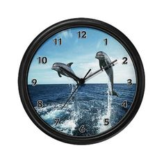 Dolphin Diving Wall Clock #cafepressfathersday