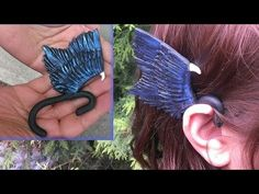 Disney's Maleficent Wings Ear cuff polymer clay video tutorial. Easy and very awesome!