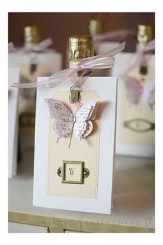 Cute Cards #butterfly #monogram #invite #invitation #scrapbook #punch