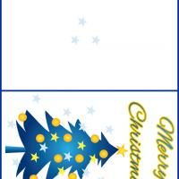 Blue Christmas Cards.