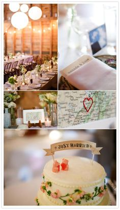 Tables and decor  flowers by Steven Bruce Design -- If I keep dating guys long distance/traveling a lot to see them, I would love a simple theme like this~
