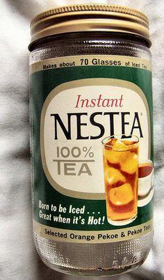 1970s Instant Nestea...I did not know tea was vintage. ha! I still drink it!