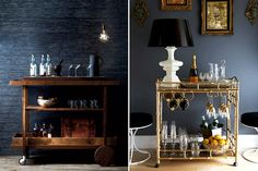 Bar Carts // HonestlyYUM
