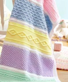 Crocheted baby afghan. Pattern available in Leisure Art's Colorful Cuddler's Digital Download.