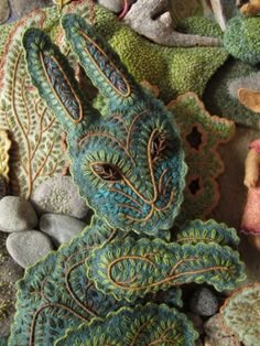 Beautiful embroidered rabbit
