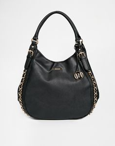 River Island Black Chain Side Slouch