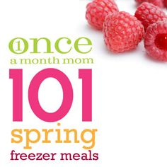 101 freezer meals perfect for spring.