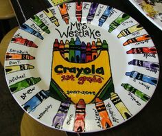 Crayola plate
