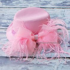 Pink Hat with feathers
