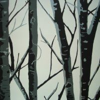 Woodland Collection ~ Birch Wallpaper Onyx