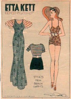 The Paper Collector: Etta Kett's New Beach Outfits, 1933