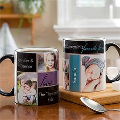 Personalized Photo Collage Coffee Mugs - Favorite Faces - Photo Gifts