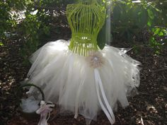 Shimmery ivory tulle tutu Would look super cute
