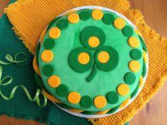 St. Patrick's Day Cake with Marshmallow Fondant