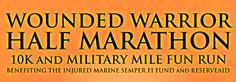 marathon train, half marathons, wound warrior