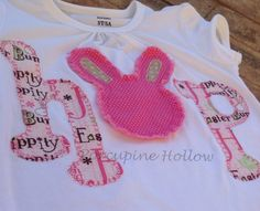 Girls Easter Shirt Long Sleeve by PorcupineHollow on Etsy, $23.00
