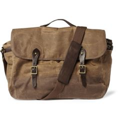 Abingdon Waxed Cotton-Canvas Messenger Bag